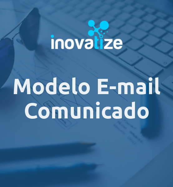 Capa do modelo de e-mail Comunicado Simples