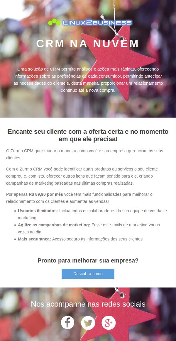 Modelo de e-mail para apresentação