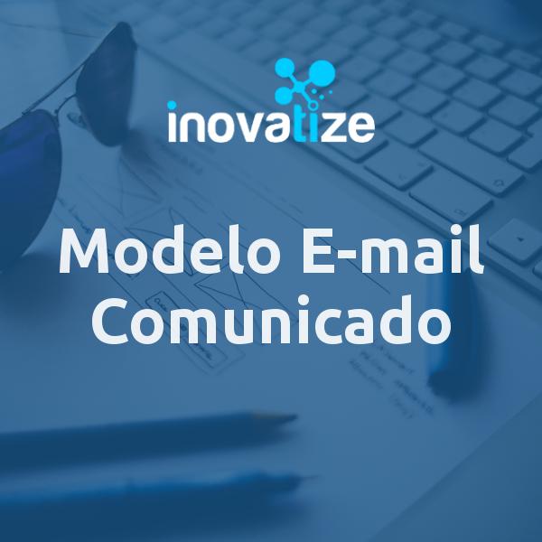 Capa do modelo de e-mail Comunicado Simples