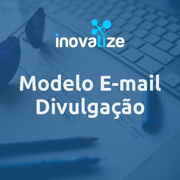 Capa do modelo de e-mail divulgação
