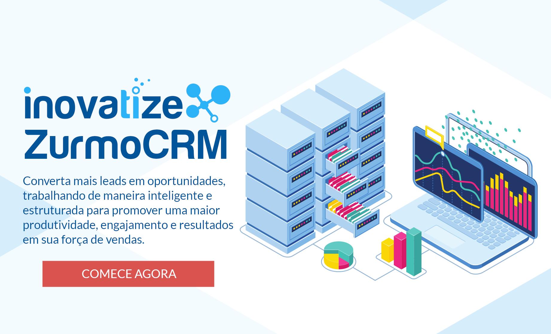 Inteligência de vendas com o Inovatize CRM
